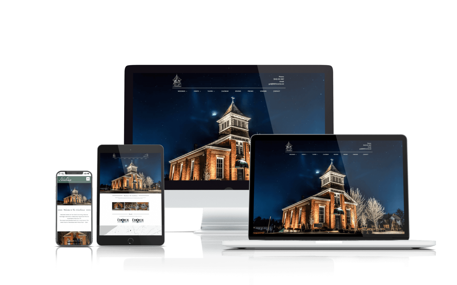 event venue web design
